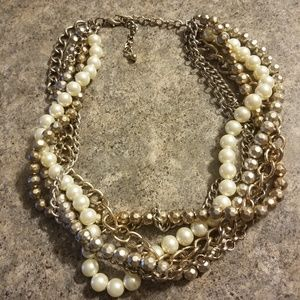 Jewelry - Chunky pearl chain necklace